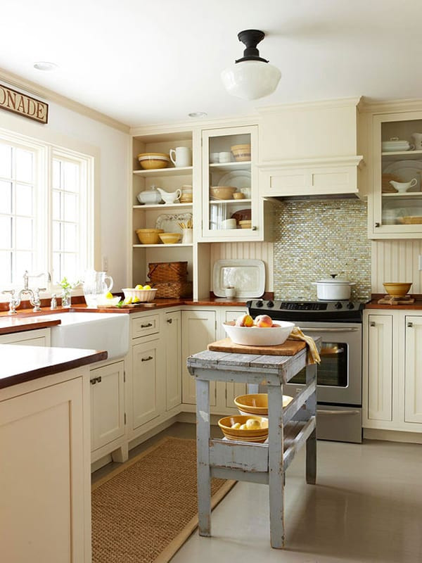 Small Kitchen With Island Ideas  48 Amazing space saving small kitchen island designs