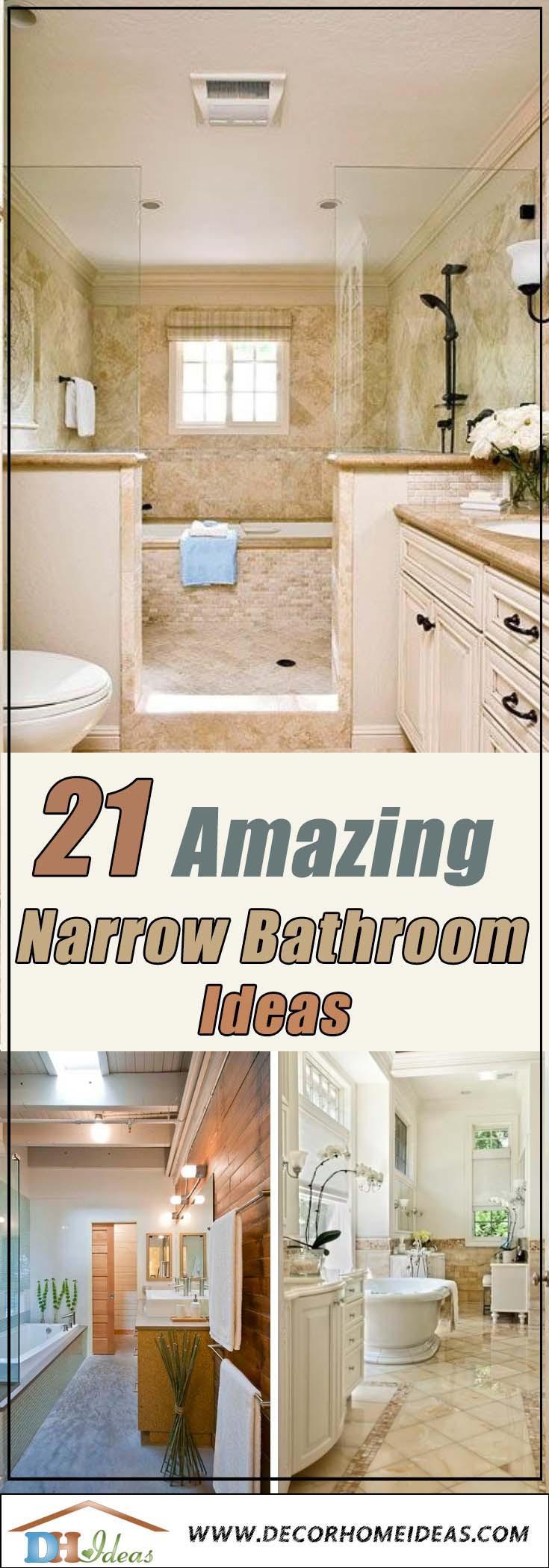 Small Narrow Bathroom Ideas  21 Amazing Narrow Bathroom Ideas
