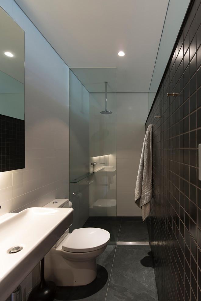 Small Narrow Bathroom Ideas  Monochromatic small bathrooms designs