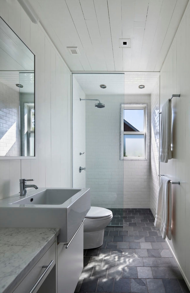Small Narrow Bathroom Ideas  25 Narrow Bathroom Designs Decorating Ideas