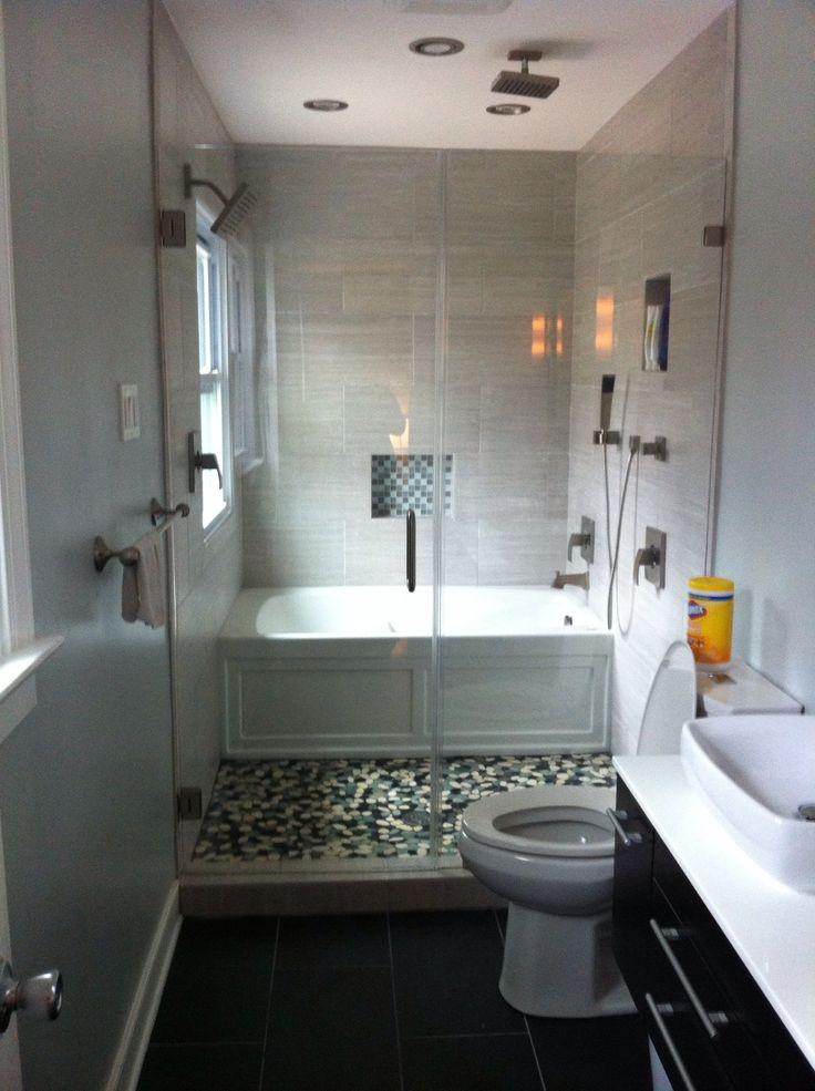 Small Narrow Bathroom Ideas  Efficient Bathroom Space Saving with Narrow Bathtubs for