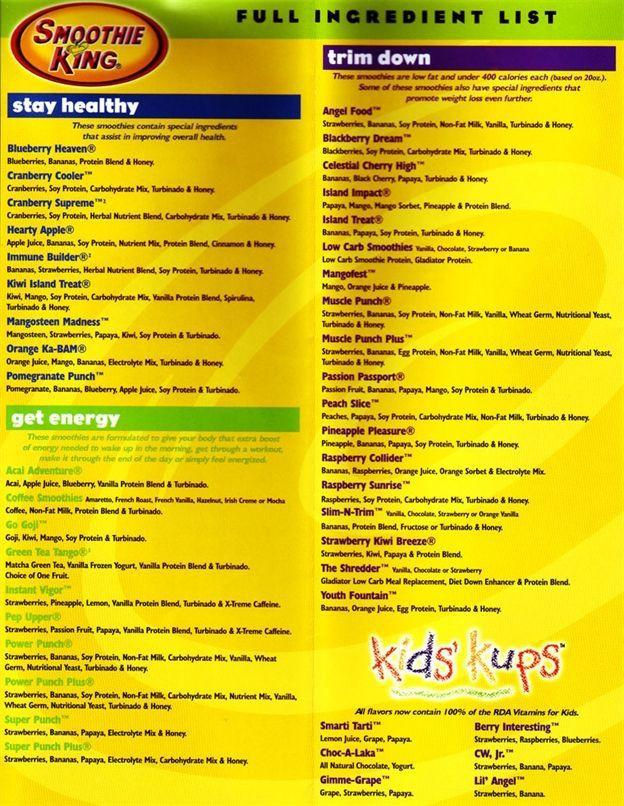 Smoothie King Recipes  fbdb9f1760c9f2ea f1cf546bc8 624×806 pixels