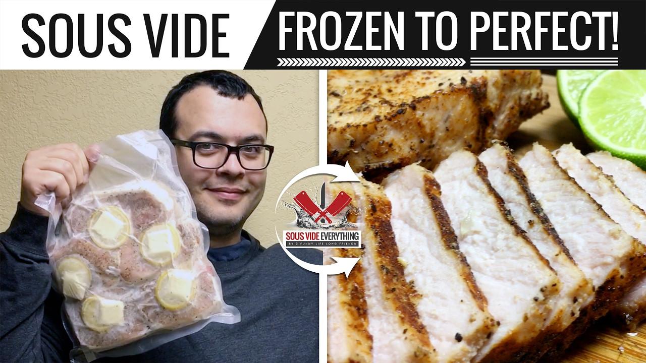 Sous Vide Frozen Pork Chops  Sous Vide From Frozen to Pork Chop Perfection by Sous