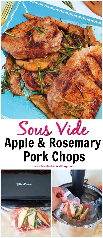 Sous Vide Frozen Pork Chops  Juicy Sous Vide Apple & Rosemary Pork Chops