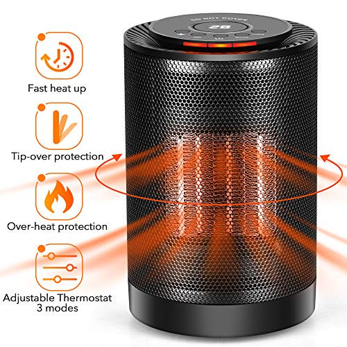 Space Heater For Kids Room  LONOVE PTC Space Heater – Portable Ceramic Heater for