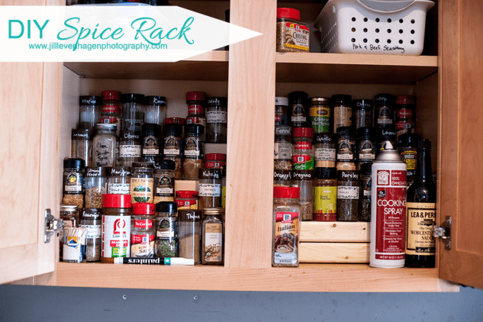 Spice Rack Ideas DIY  DIY Spice Rack