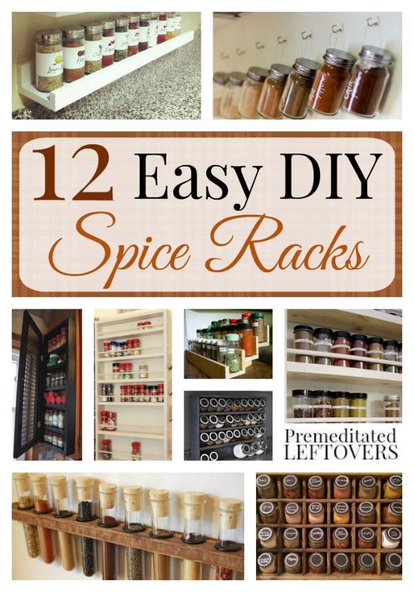 Spice Rack Ideas DIY  Easy DIY Spice Racks