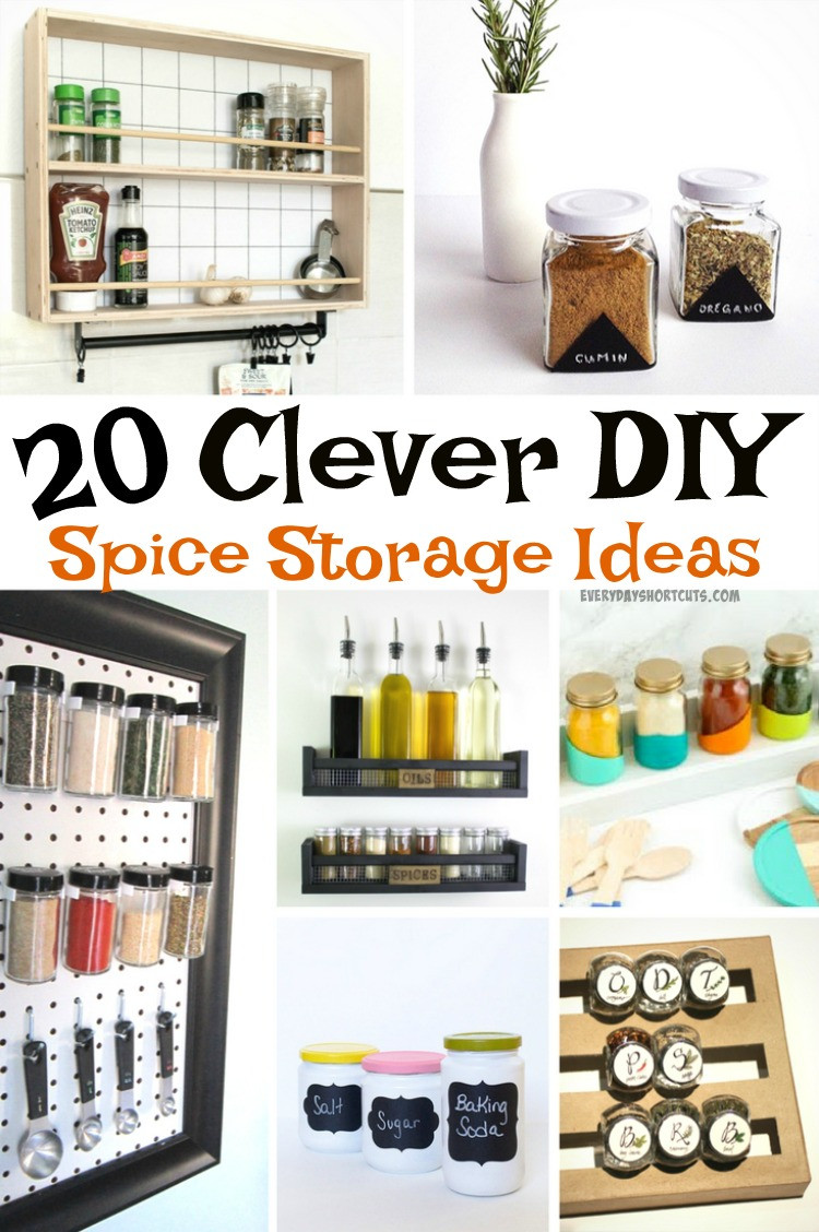 Spice Rack Ideas DIY  20 Clever DIY Spice Storage Ideas Everyday Shortcuts