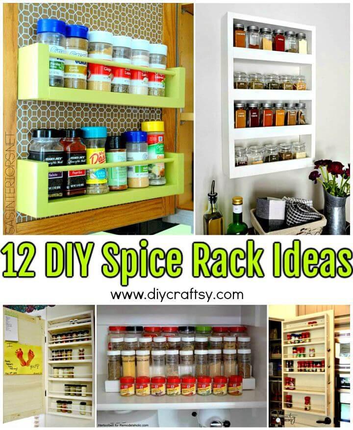 Spice Rack Ideas DIY  12 DIY Spice Rack Ideas to Update Your Kitchen ⋆ DIY Crafts