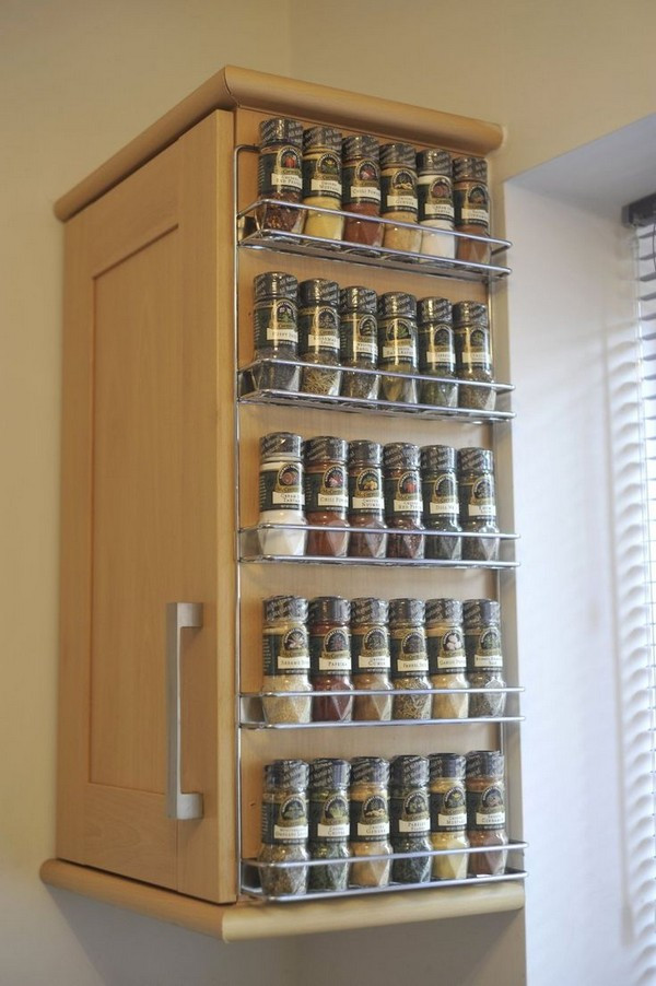 Spice Rack Ideas DIY  Coolest Spice Rack Ideas For Your Kitchen Decoration The
