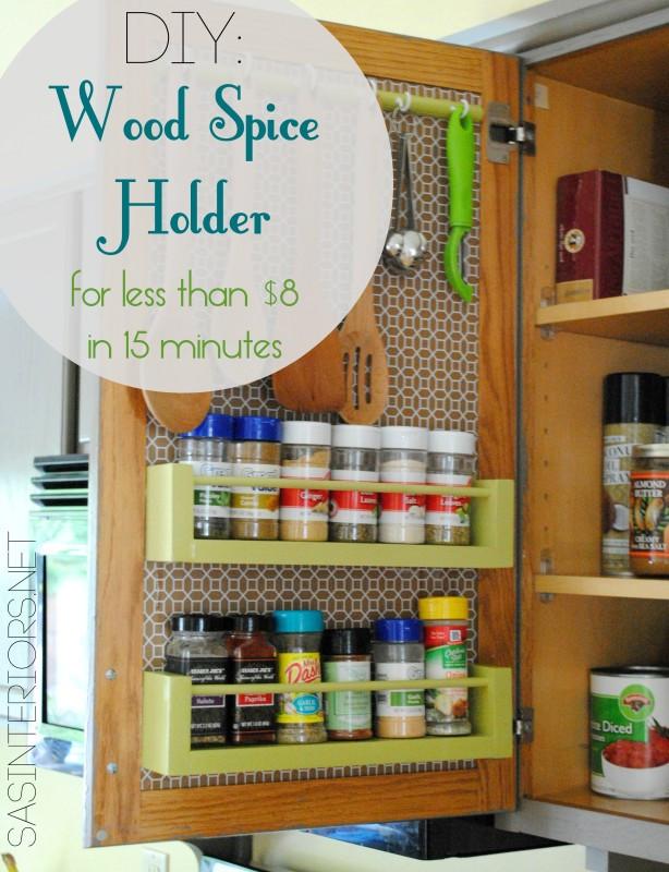 Spice Rack Ideas DIY  22 DIY Spice Rack Ideas To Spice Up Your Kitchen