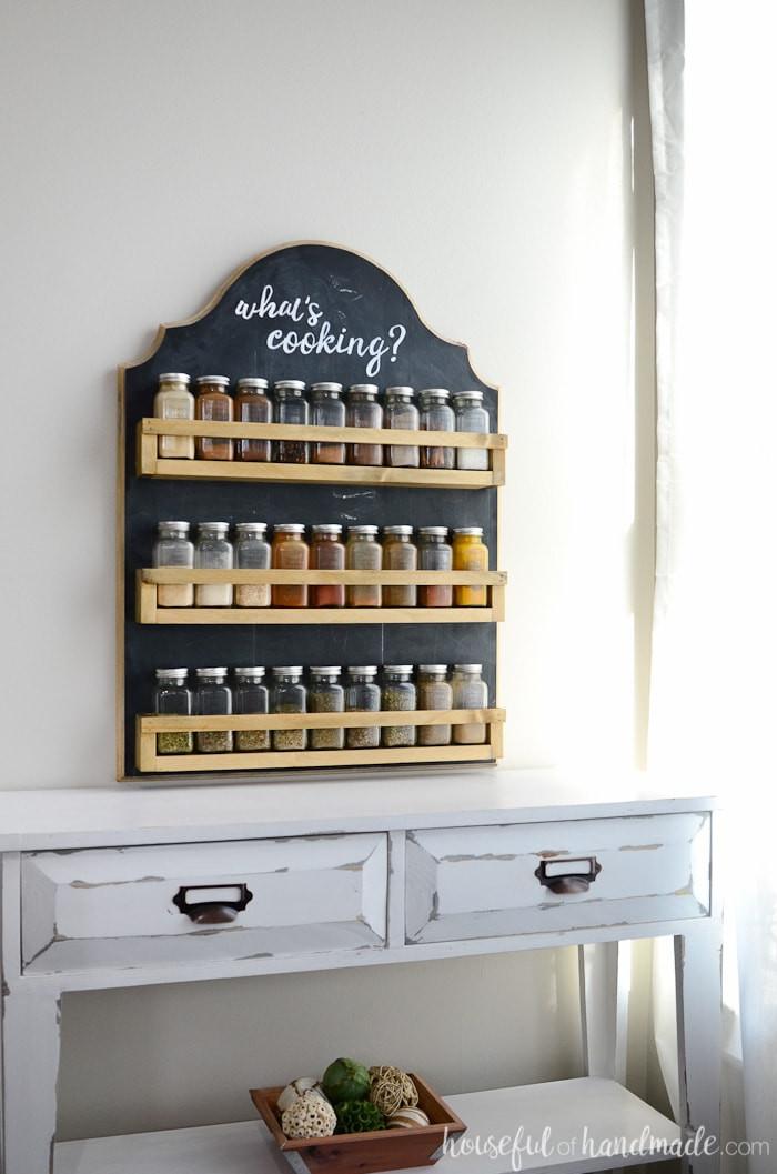 Spice Rack Ideas DIY  Wooden Spice Rack Build Plans Houseful of Handmade