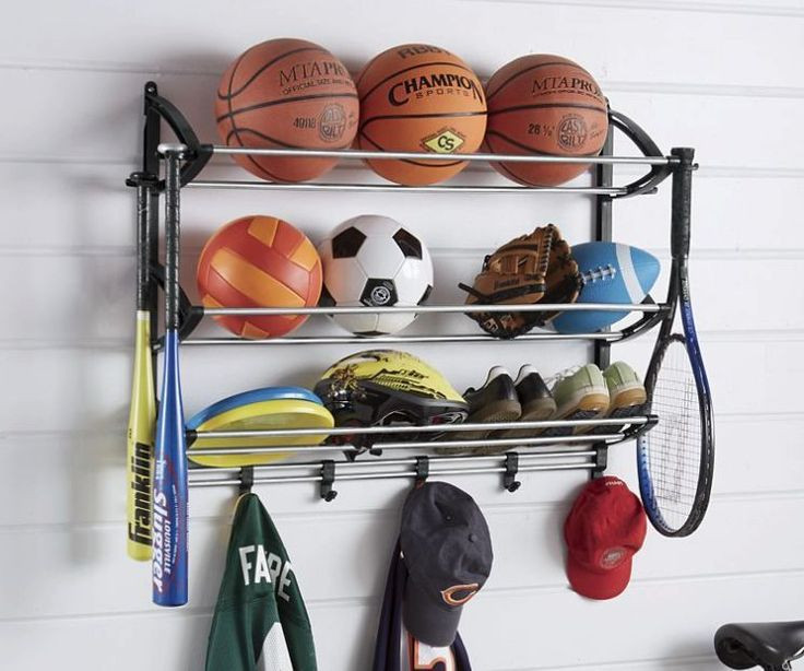 Sports Equipment Organizer For Garage  Sports Racks Artistic Closets