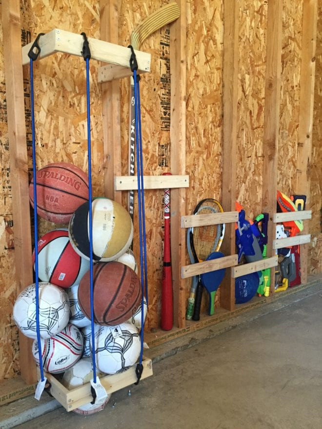 Sports Equipment Organizer For Garage  Easy DIY Garage Sports Storage Giveaway Pretty