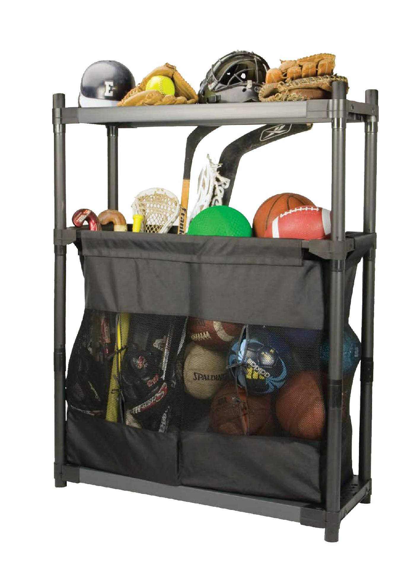 Sports Equipment Organizer For Garage  Grossfillex MaximUp 36 EZ Sport Storage props not included