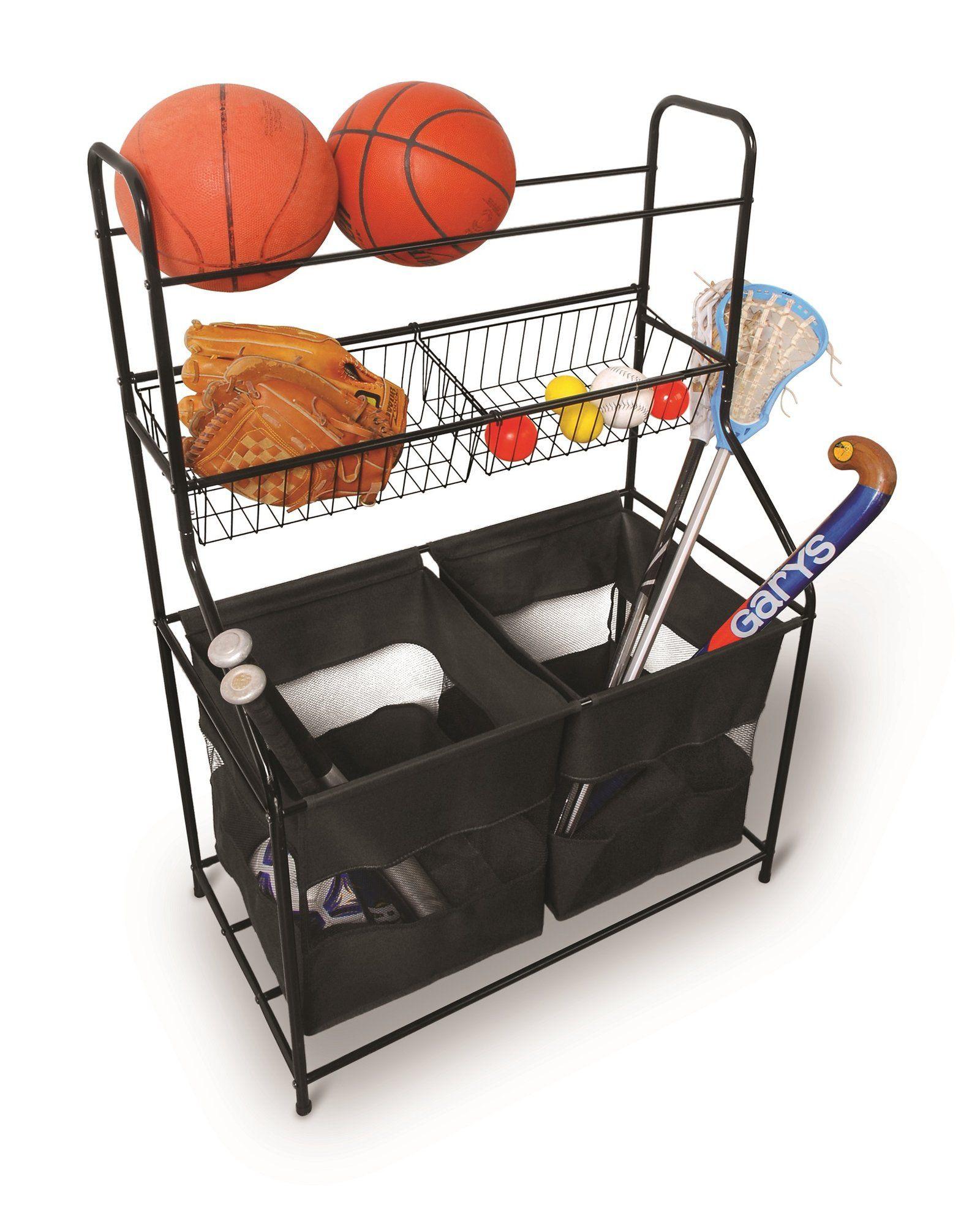 Sports Equipment Organizer For Garage  Sterling Storage Organizer Freestanding Sports Rack