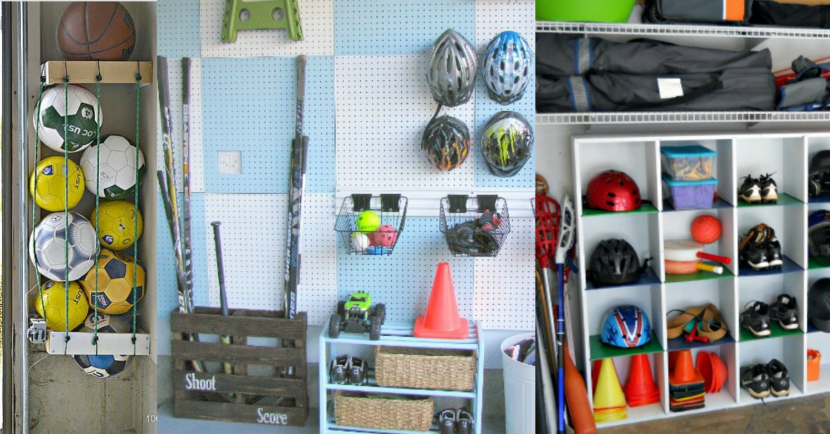 Sports Equipment Organizer For Garage  6 Amazing Sports Equipment Storage Ideas That Will Blow