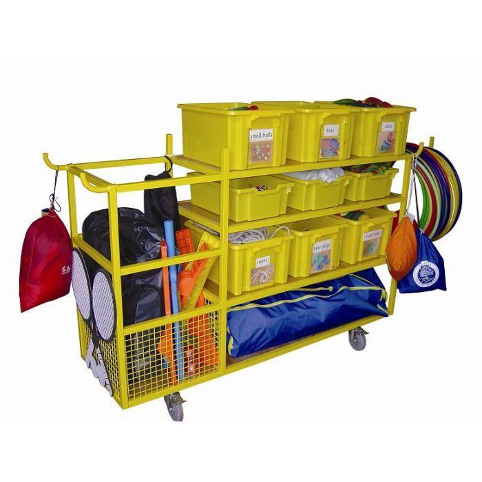 Sports Equipment Organizer For Garage  plete School Sports Equipment Storage Trolley