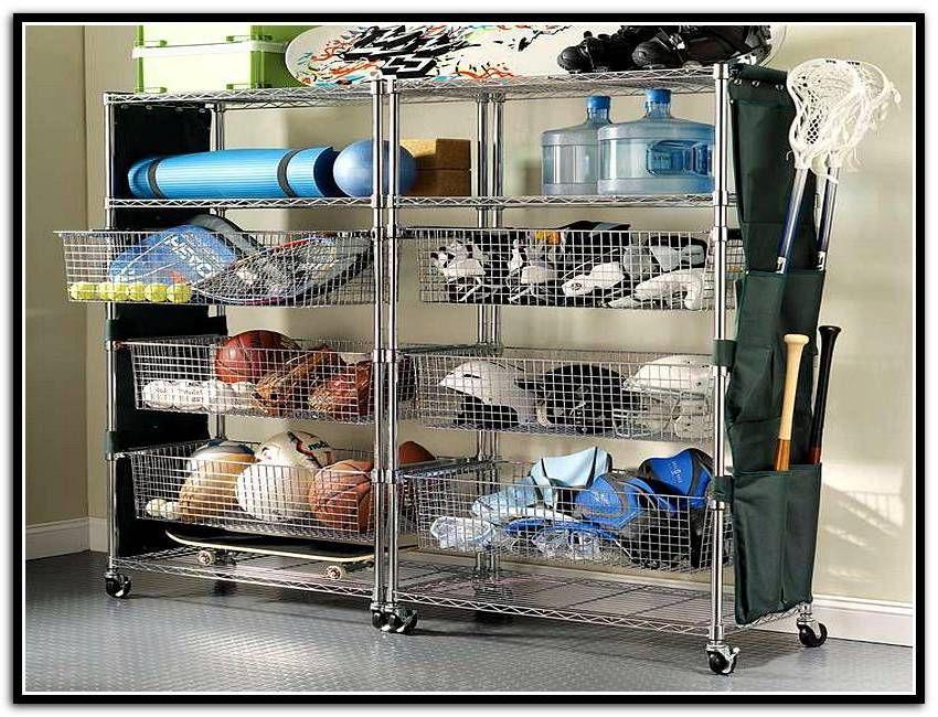 Sports Equipment Organizer For Garage  Garage Storage Bins For Sports Equipment