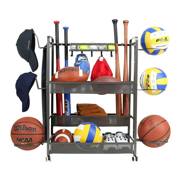 Sports Equipment Organizer For Garage  Shop JUBAO Sports Equipment Garage Organizer Sport Balls