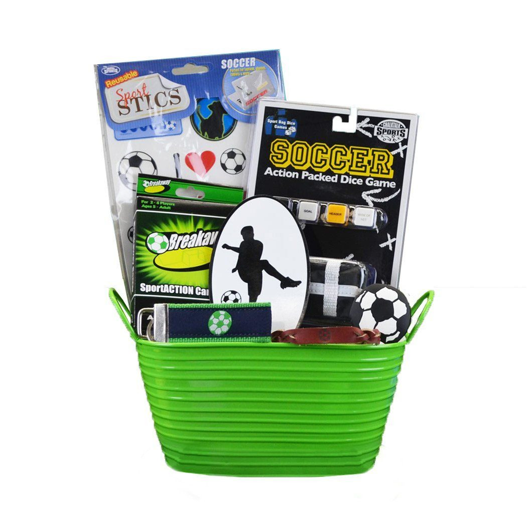 Sports Gift Ideas For Boys  Soccer Boy Sports Gift Basket Amazon Toys & Games