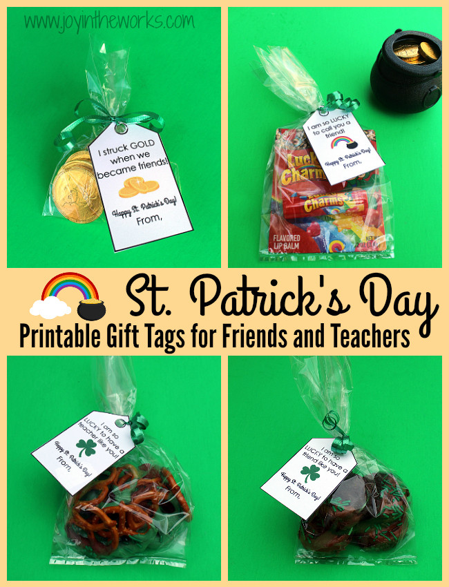 St Patrick's Day Gifts  St Patrick s Day Gifts with Free Printable Gift Tags