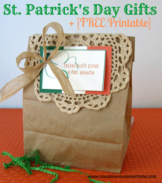 St Patrick's Day Gifts  The Dollar Store Diva St Patrick s Day Gifts Cha Ching