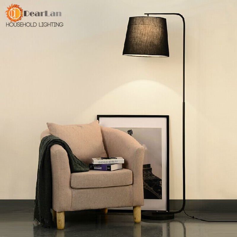 Standing Lamps For Living Room  Modern Brief Fork Fabric Floor Lamp Modern Brief Bedroom