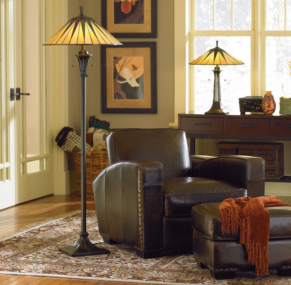 Standing Lamps For Living Room  Mission Style Floor Lamps When Traditional meets