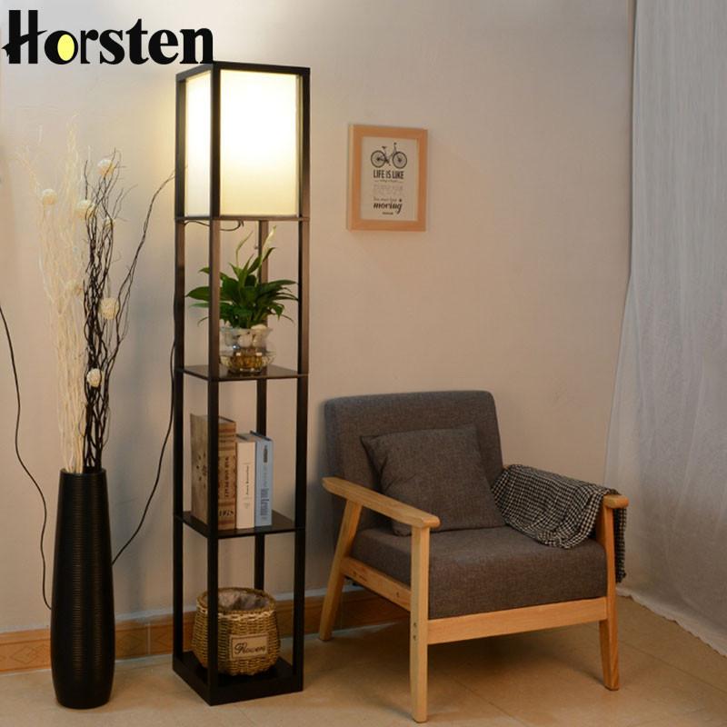 Standing Lamps For Living Room  Wooden Floor Lamp Modern Minimalist Living Room Light 3