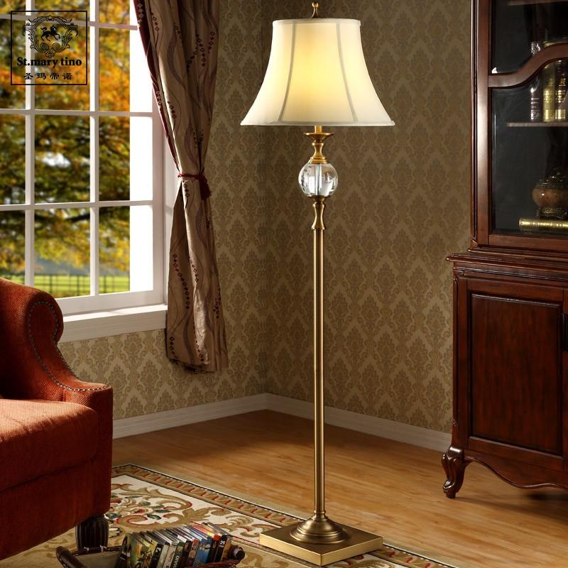 Standing Lamps For Living Room  Nordic American minimalist retro crystal floor lamp living