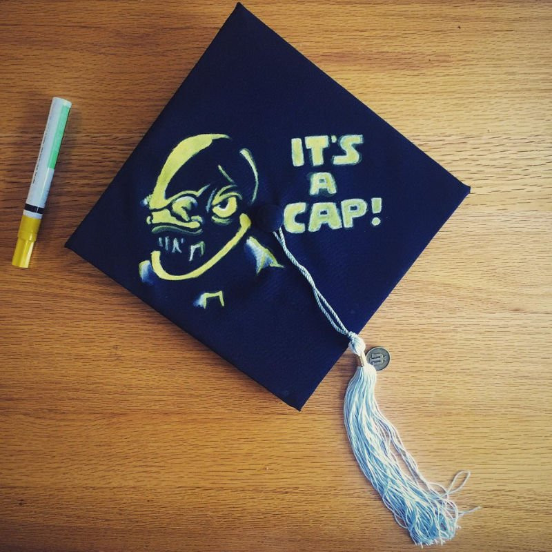 Star Wars Graduation Quotes  37 Funny Graduation Caps That Are Painfully Accurate