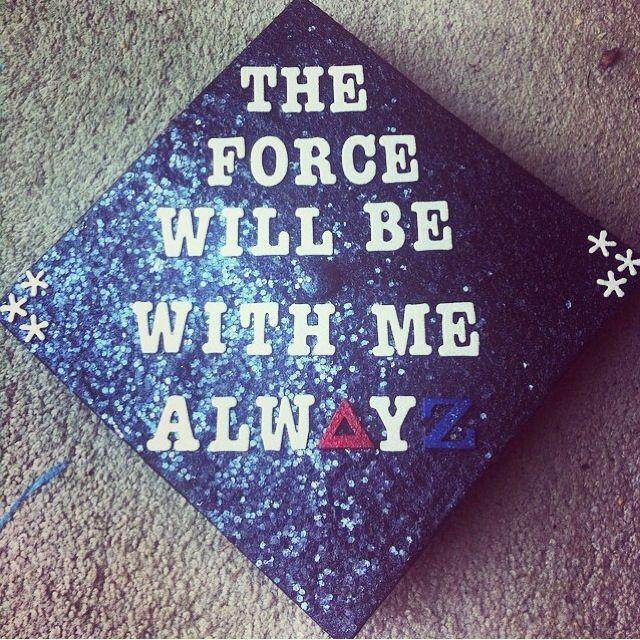 Star Wars Graduation Quotes  Graduation Cap Star Wars Delta Zeta