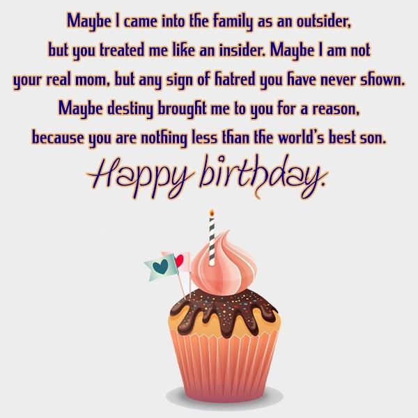 Step Son Birthday Quotes  Happy Birthday Letter To My Stepson Segerios
