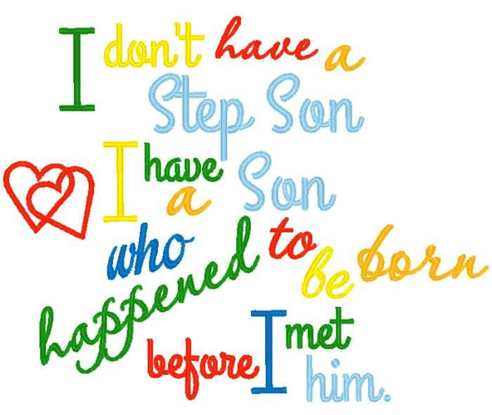 Step Son Birthday Quotes  Step Son Saying from NNKidsEmbroidery on Etsy Studio