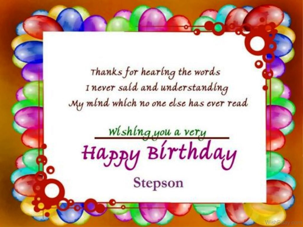 Step Son Birthday Quotes  Best Birthday Wishes For Stepson Wishes Choice