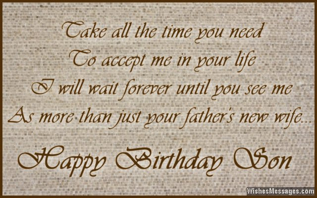 Step Son Birthday Quotes  Birthday Wishes for Stepson – WishesMessages