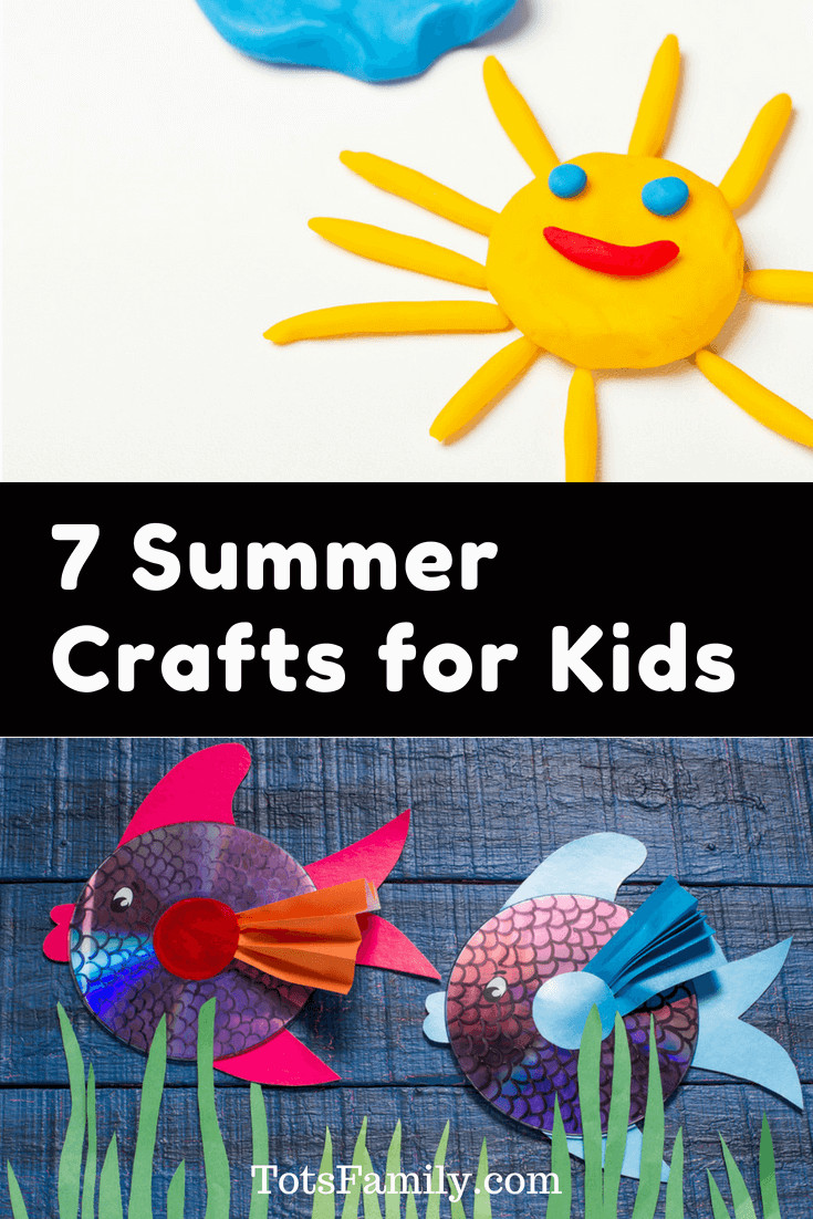 Summer Crafts For Children  7 Summer Crafts for Kids for those rainy days of Summer