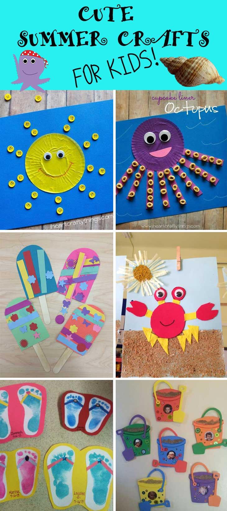 Summer Crafts For Children  Cute Summer Crafts for Kids DIY Cuteness