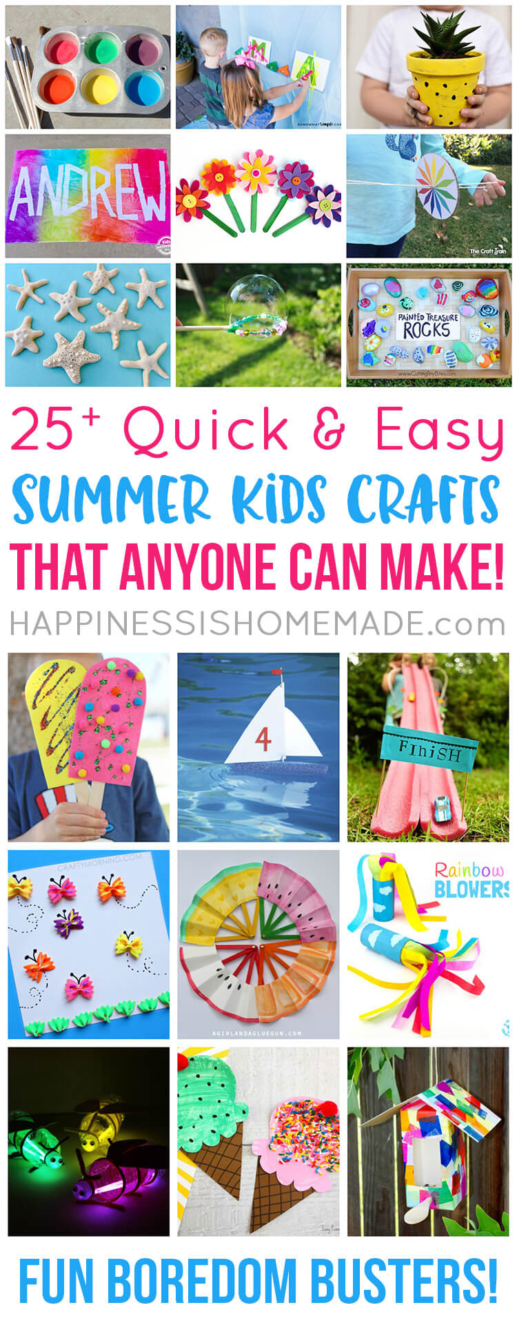 Summer Crafts For Children  Easy Summer Kids Crafts That Anyone Can Make Happiness