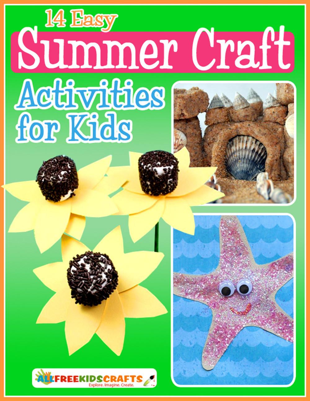 Summer Crafts For Children  14 Easy Summer Craft Activities for Kids Free eBook