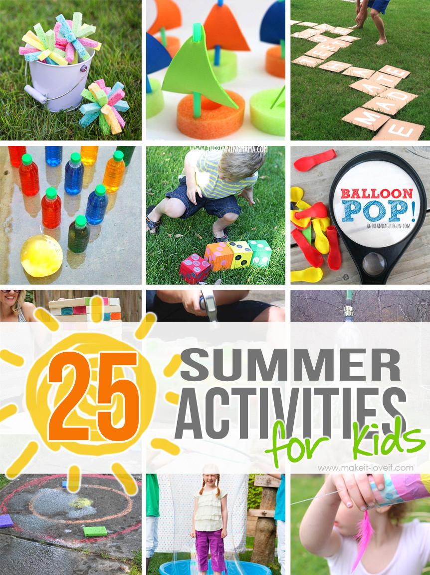 Summer Crafts For Children  25 Outdoor Summer Activities for Kids