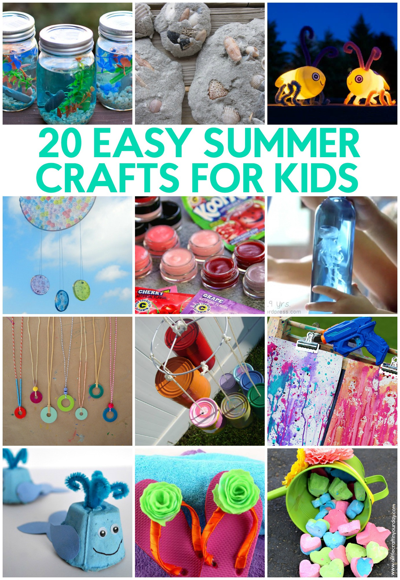 Summer Crafts For Children  20 Easy Summer Crafts for Kids A Little Craft In Your Day