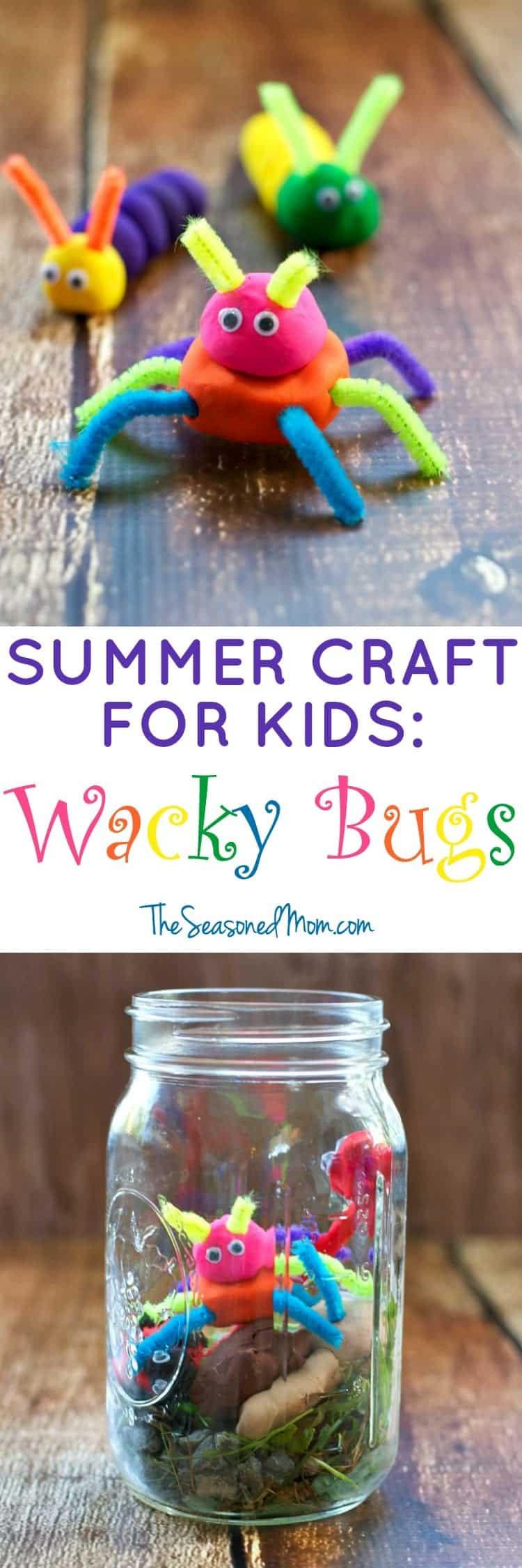 Summer Crafts For Children  Summer Craft for Kids Wacky Bugs The Seasoned Mom