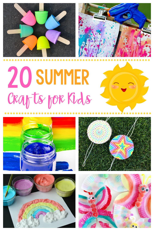 Summer Crafts For Children  20 Simple & Fun Summer Crafts for Kids