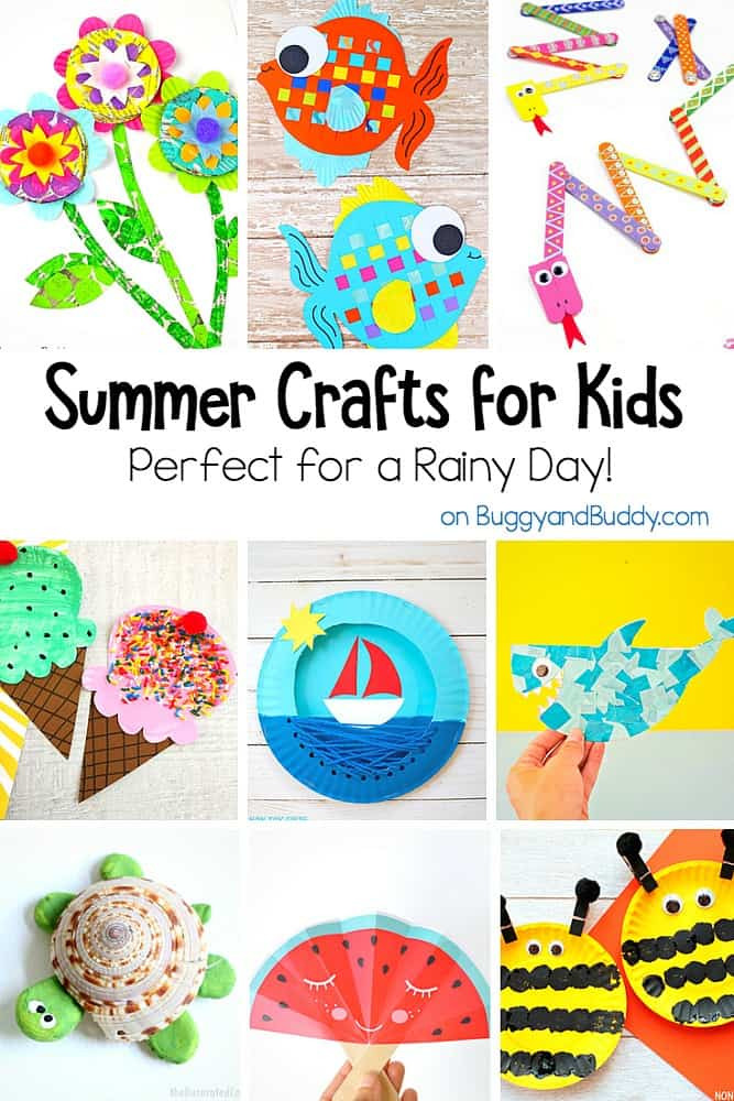 Summer Crafts For Children  Fun Summer Crafts for Kids for a Rainy Day Buggy and Buddy