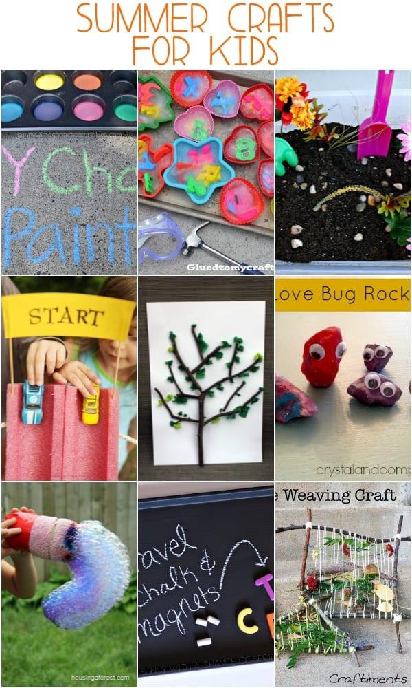 Summer Crafts For Children  Easy Summer Crafts for Kids mom makes dinner