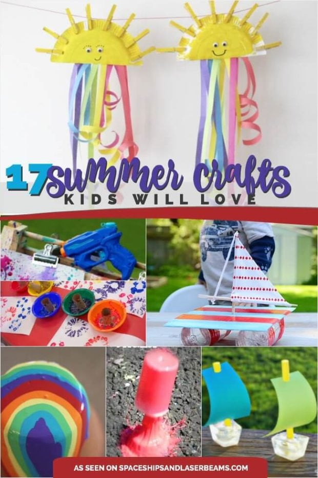 Summer Crafts For Children  17 Great Summer Crafts for Kids Spaceships and Laser Beams