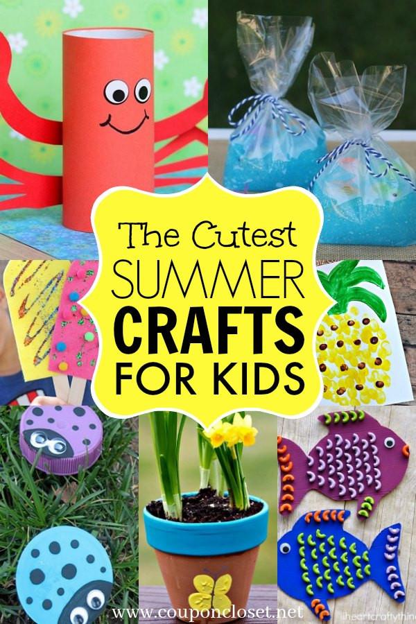 Summer Crafts For Children  Summer crafts for kids 35 adorable summer crafts for kids
