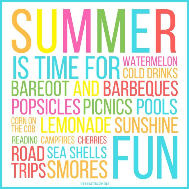Summer Fun Quotes  Making Summer Memories with Your Child This Year